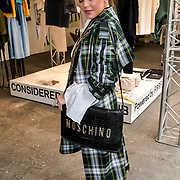 Claudia Lustin-Brown is a Trainee fashion designer and style attend the Graduate Fashion Week 2019 - Final Day, on 5 June 2019, Old Truman Brewery, London, UK.