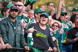 November 4, 2018 - Portland, OR, U.S. - PORTLAND, OR - NOVEMBER 04: Portland Timbers celebrate a goal during the Portland Timbers first leg of the MLS Western Conference Semifinals against the Seattle Sounders on November 04, 2018, at Providence Park in Portland, OR. (Photo by Diego Diaz/Icon Sportswire) (Credit Image: © Diego Diaz/Icon SMI via ZUMA Press)