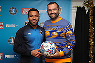 sponsor during the EFL Sky Bet League 1 match between AFC Wimbledon and Rochdale at the Cherry Red Records Stadium, Kingston, England on 8 December 2018.