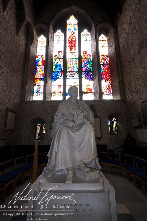Marble statue of Bishop John Jebb of Limerick, St Mary's Cathedral, Limerick, Ireland.