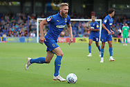 AFC Wimbledon midfielder Scott Wagstaff (7)  during the EFL Sky Bet League 1 match between AFC Wimbledon and Coventry City at the Cherry Red Records Stadium, Kingston, England on 11 August 2018.