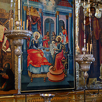 Europe, Russia, Suzdal. Fresco icon in the Cathedral of the Nativity Suzdal