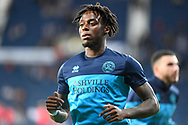 QPR defender Moses Odubajo (22) during the EFL Sky Bet Championship match between West Bromwich Albion and Queens Park Rangers at The Hawthorns, West Bromwich, England on 24 September 2021.