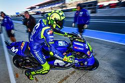 May 18, 2018 - Le Mans, France - 46 VALENTINO ROSSI (ITA) MOVISTAR YAMAHA MOTOGP (JPN) YAMAHA YZR M1 (Credit Image: © Panoramic via ZUMA Press)
