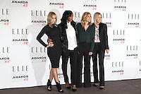 All Saints, Natalie Appleton, Shaznay Lewis, Melanie Blatt, Nicole Appleton, ELLE Style Awards 2016, Millbank London UK, 23 February 2016, Photo by Richard Goldschmidt