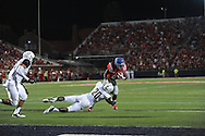 Mississippi Rebels running back Jaylen Walton (6) is tackled by Vanderbilt Commodores safety Oren Burks (20) at Vaught-Hemingway Stadium at Ole Miss in Oxford, Miss. on Saturday, September 26, 2015. (AP Photo/Oxford Eagle, Bruce Newman)