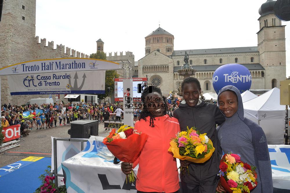 9ª Semi Maratona di Trento Half Marathon - 6 ottobre 2019 –  Corsa su strada internazionale -  06.10.2019, Trento, Trentino, Italia. Podium, <br /> © Daniele Mosna www.DanieleMosna.it