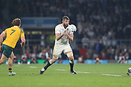Geoff Parling of England drops the ball. Rugby World Cup 2015 pool A match, England v Australia at Twickenham Stadium in London, England  on Saturday 3rd October 2015.<br /> pic by  John Patrick Fletcher, Andrew Orchard sports photography.