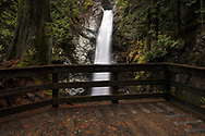 Viewing platform at Cascade Falls Regional Park near Mission, British Columbia, Canada