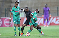 02102018 (Durban) Amazulu player DarpohSamuel fight for a ball during the game when AmaZulu FC takes head on their KwaZulu-Natal rivals Maritzburg United in an Absa Premiership match at the King Zwelithini Stadium in Durban on Tuesday night. Usuthu extended their winless run to three league games when they lost 2-0 to Kaizer Chiefs away in their previous match over a week ago and after losing 6 points.<br /> Picture: Motshwari Mofokeng/African News Agency (ANA)