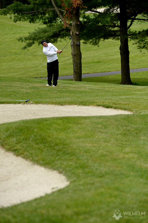 24 MAY 2013:  Simon Forsslund of Barry University during the 2013 NCAA Men's Division II Golf Championship held at Hershey Country Club in Hershey, PA. Barry defeated Lynn on cumulative stroke total to win the national team title. Brett Wilhelm/ NCAA Photos