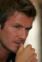 Photo: Paul Thomas.<br /> England Press Conference. 02/06/2006.<br /> <br /> David Beckham.