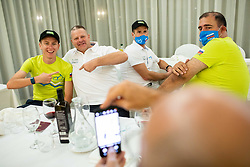 Tadej Pogacar and Ales Galof of Team Slovenia at Day 1 of UCI Road World Championship 2020, on September 24, 2020 in Rimini, Italy. Photo by Vid Ponikvar / Sportida