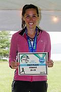 Carolyn Rodriguez First place Female 25-29 in the 2018 Hague Endurance Festival Sprint Triathlon