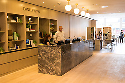 © Licensed to London News Pictures. 04/04/2016.  The DANIEL GALVIN hair salon and spa at the new SELFRIDGES Body Studio - the world's first fully integrated bodywear department and the largest retail space ever opened by the iconic London store. Covering over 37,000 sq ft, customers will experience over 3,000 brands and more than 5,000 different clothing options.London, UK. Photo credit: Ray Tang/LNP