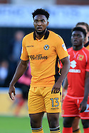 Marlon Jackson of Newport county looks on.EFL cup, 1st round match, Newport county v Milton Keynes Dons at Rodney Parade in Newport, South Wales on Tuesday 9th August 2016.<br /> pic by Andrew Orchard, Andrew Orchard sports photography.