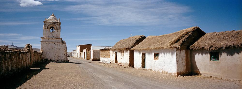 Small market town Uyuni, Potosi region, Bolivia