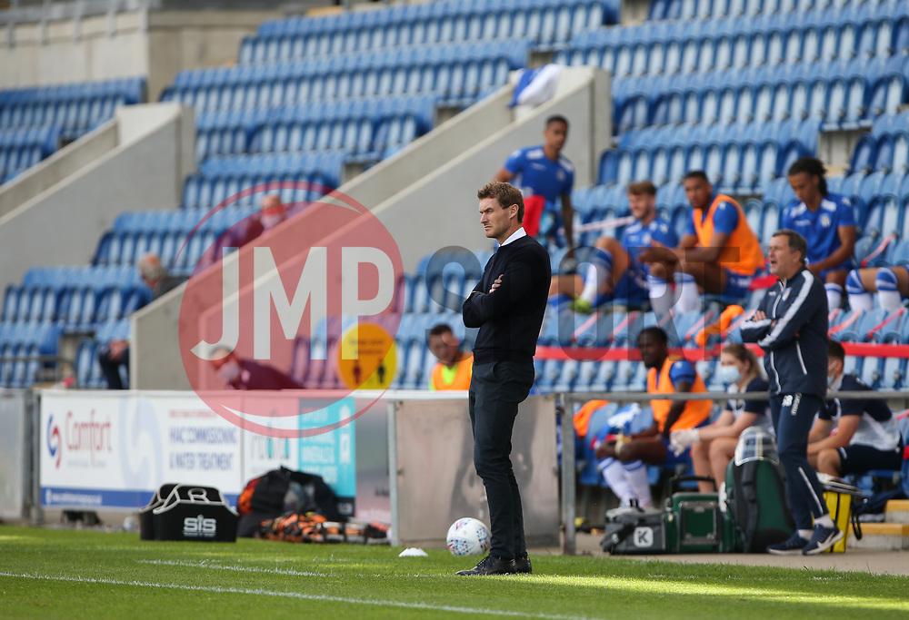 Exeter City manager Matt Taylor looks on - Mandatory by-line: Arron Gent/JMP - 18/06/2020 - FOOTBALL - JobServe Community Stadium - Colchester, England - Colchester United v Exeter City - Sky Bet League Two Play-off 1st Leg