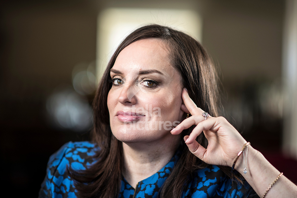 Comedian, writer and public speaker, Deborah Frances-White pictured at Soho House, Soho.<br /> Picture by Daniel Hambury/@stellapicsltd 07813022858<br /> 16/02/2018