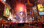 A view of Times Square during New Year's eve celebration.