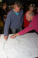 Informatieavond over de bouw van een gemaal met vispassage bij de zeedijk ten noorden van Hallum-Marrum. Betreft het plan Gemaal Vijfhuizen/Hallumer Ryt.