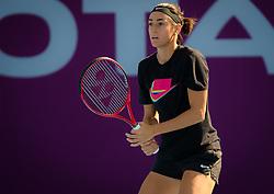 February 12, 2019 - Doha, QATAR - Caroline Garcia of France practices at the 2019 Qatar Total Open WTA Premier tennis tournament (Credit Image: © AFP7 via ZUMA Wire)