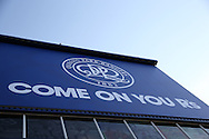 a General view of the QPR sign outside Loftus Road stadium. EFL Skybet football league championship match, Queens Park Rangers v Newcastle Utd at Loftus Road Stadium in London on Tuesday 13th September 2016.<br /> pic by John Patrick Fletcher, Andrew Orchard sports photography.
