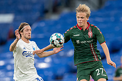 Rasmus Falk (FC København) og Søren Tengstedt (AaB) under kampen i 3F Superligaen mellem FC København og AaB den 17. juni 2020 i Telia Parken, København (Foto: Claus Birch).