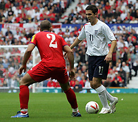 Photo: Paul Thomas.<br /> England v Andorra. European Championships 2008 Qualifying. 02/09/2006.<br /> <br /> Stuart Downing of England in action.