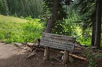 North Cascades National Park entrance sign
