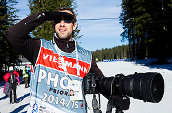 Photographer Ziga Zivulovic of F.A. Bobo during Men 12,5 km Pursuit at day 3 of IBU Biathlon World Cup 2014/2015 Pokljuka, on December 20, 2014 in Rudno polje, Pokljuka, Slovenia. Photo by Vid Ponikvar / Sportida