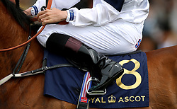 A general view of a Royal Ascot Silk during day five of Royal Ascot at Ascot Racecourse.