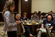 UConn President Susan Herbst speaks during a supporters brunch at the Hyatt Regency in Dallas, Texas before watching her school compete in the NCAA Final Four on April 5, 2014. (Cooper Neill / for The New York Times)