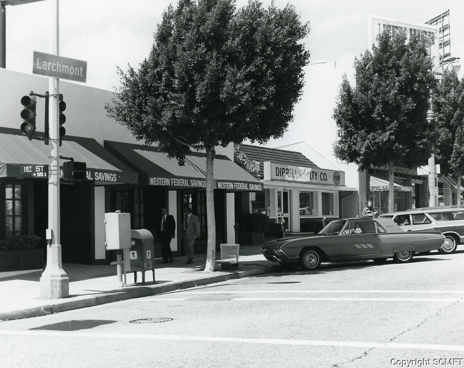 1977 Western Federal S. & L. & Dippell Realty on Larchmont Blvd.
