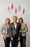 """12/15/10 1:07:10 -- Marietta, , GA<br /> <br /> Carole Aebersold with her daughters, Chanda Bell, left and Christa Pitt, right, with elves.<br />  -- Carole Aebersold and her daughter Chanda Bell wrote a children's book, """"The Elf on the Shelf"""" a few years ago. It was turned down by all the major publishing houses. It is now NO. 3 on USA Today's Bestselling Bookslist. It's a phenomenon. Chanda's twin sister Christa Pitt is a co-CEO in the company. -- <br /> <br /> <br /> Photo by Michael  A. Schwarz, USA TODAY contract photographer"""