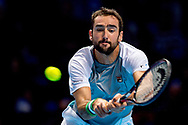 Marin Cilic of Croatia in action during the Nitto ATP World Tour Finals at the O2 Arena, London, United Kingdom on 16 November 2018. Photo by Martin Cole