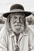 A gritty portrait of one of the Mountain Men at the Bear River Rendezvous in Southern Wyoming.