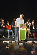 Nederland, Nijmegen, 13-1-2017Jesse Klaver, lijsttrekker van Groen Links,spreekt voor een volle Vereeniging.Foto: Flip Franssen