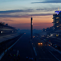 25 May, 2014, Indianapolis, Indiana, USA<br /> Race day sunrise over Indianapolis Motor Speedway<br /> ©2014, Phillip Abbott<br /> LAT Photo USA