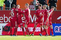 Fotball<br /> 23.04.2016<br /> Tippeligaen<br /> Brann Stadion<br /> Brann - Sogndal<br /> Daniel Braaten (L) får en god klem av målscorer Fredrik Haugen (4R) etter den flotte pasningen han mottok, Kristoffer Barmen (4R) , Jacob Orlov (3R) , Ruben Kristiansen (2R) og Mads Hvilsom (R) , Brann<br /> Foto: Astrid M. Nordhaug
