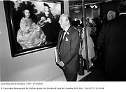 Lord Howard de Walden. Grosvenor House Antiques Fair. Grosvenor House Hotel. 9 June 1987 87432f30 © Copyright Photograph by Dafydd Jones<br />66 Stockwell Park Rd. London SW9 0DA<br />Tel 0171 733 0108