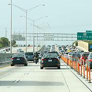 USA/Miami/20150727 - Miami, verkeer op de I95 nelweg