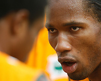Photo: Steve Bond/Richard Lane Photography.<br />Ivory Coast v Benin. Africa Cup of Nations. 25/01/2008. Didier Drogba of Chelsea and Ivory Coast dispenses advice