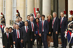 September 15, 2017 - Paris, France, France - Tony Estanguet - Anne Hidalgo - Valerie Pecresse - Guy Drut - Bernard Lapasset - Thierry Rey - Najat Vallaud Belkacem - Denis Masseglia (Credit Image: © Panoramic via ZUMA Press)