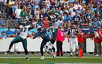 in the fourth quarter of an NFL football game on Sunday, Oct. 24, 2010, in Nashville, Tenn. The Titans won 37-19. (AP Photo/Frederick Breedon)