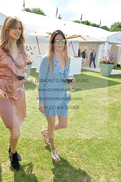Zara Simon at Cartier Queen's Cup Polo, Guard's Polo Club, Berkshire, England. 18 June 2017.<br /> Photo by Dominic O'Neill/SilverHub 0203 174 1069 sales@silverhubmedia.com