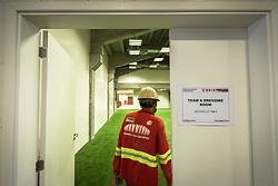 Vestiários do Beira Rio em 31 de fevereiro de 2014. O Estádio Beira Rio, que receberá jogos da Copa do Mundo de Futebol 2014, tem mais 97% da sua reforma concluída e re-inauguração agendada para 04 de abril de 2014. FOTO: Jefferson Bernardes/ Agência Preview