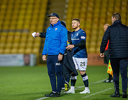 Raith Rovers manager John McGlynn after Iain Davidson's handballl for Livingston's first penalty. Livingston 3 v 1 Raith Rovers, William Hill Scottish Cup played 18/1/2020 at the Livingston home ground, Tony Macaroni Arena.