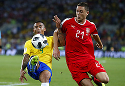 June 27, 2018 - Moscou, Rússia - MOSCOU, MO - 27.06.2018: SERBIA VS BRAZIL - Gabriel Jesus do Brasil and Nemanja MATIC from Serbia during the match between Serbia and Brazil valid for the 2018 World Cup held at the Otkrytie Arena in Moscow, Russia. (Credit Image: © Rodolfo Buhrer/Fotoarena via ZUMA Press)