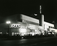 1939 Bowling Alley and shops on Vine St. north of Sunset Blvd.